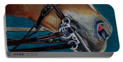 A Bit Of Control - Horse Bridle Painting Portable Battery Charger