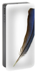 A Blue Feather Portable Battery Charger