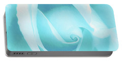 A Blue Rose - Romantic Abstract Art Portable Battery Charger