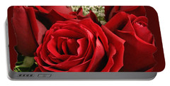 A Bouquet Of Red Roses Portable Battery Charger