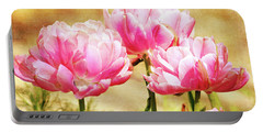 A Bouquet Of Tulips Portable Battery Charger
