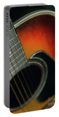Portable Battery Charger featuring the photograph  Guitar  Acoustic Close Up by Bruce Stanfield