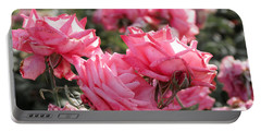 Portable Battery Charger featuring the photograph A Bunch Of Pink by Laurel Powell