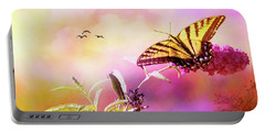 A Butterfly Good Morning Portable Battery Charger