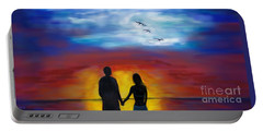 Portable Battery Charger featuring the painting A Captivating Love by Leslie Allen