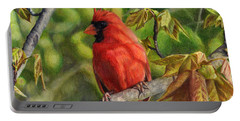 A Cardinal Named Carl Portable Battery Charger