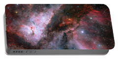 Portable Battery Charger featuring the photograph A Carina Nebula Pano by Nasa