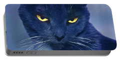A Cat's Dark Night Portable Battery Charger