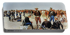 A Cavalryman's Breakfast On The Plains Portable Battery Charger