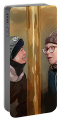 A Christmas Story Tongue Stuck To Pole Portable Battery Charger