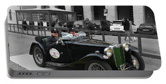 A Classic Vintage British Mg Car Portable Battery Charger