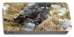 A Close Encounter - Great Gray Owl Portable Battery Charger