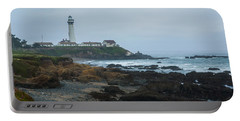 A Cloudy Day At Pigeon Point Portable Battery Charger