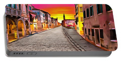 A Cobblestone Street In Venice Portable Battery Charger