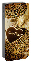 A Coffeehouse Romance Portable Battery Charger