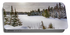A Cold Algonquin Winters Days  Portable Battery Charger