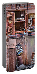 Portable Battery Charger featuring the photograph A Collaboration Of Rust by DJ Florek