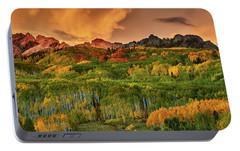 Portable Battery Charger featuring the photograph A Colorado Autumn Along Kebler by John De Bord