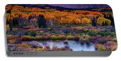 A Colorado Fall Along Kebler Pass Portable Battery Charger