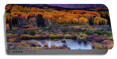 A Colorado Fall Along Kebler Pass Portable Battery Charger