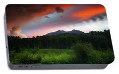 Portable Battery Charger featuring the photograph A Colorado Mountain Sunset by John De Bord