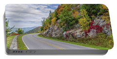 Portable Battery Charger featuring the photograph A Colorful Curve On Skyline Drive by Lori Coleman