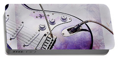 A Cool Purple Guitar Portable Battery Charger