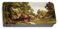 A Cottage Home In Surrey Portable Battery Charger by Edward Henry Holder