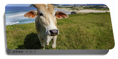 A Cow At The Beach Portable Battery Charger