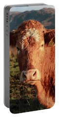A Curious Red Cow Portable Battery Charger