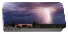 A Dance Of Lightning In The Foothills Portable Battery Charger