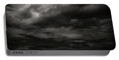 A Dark Moody Storm Portable Battery Charger by John Norman Stewart