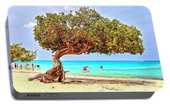 Portable Battery Charger featuring the photograph A Day At Eagle Beach by DJ Florek