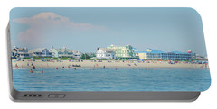 Portable Battery Charger featuring the photograph A Day At The Beach - Cape May New Jesey by Bill Cannon