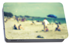 Portable Battery Charger featuring the photograph a day at the beach I by Hannes Cmarits