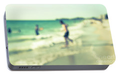 Portable Battery Charger featuring the photograph a day at the beach III by Hannes Cmarits