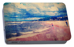 Portable Battery Charger featuring the photograph A Day At The Beach by Phil Perkins