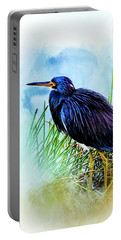 A Day In The Marsh Portable Battery Charger by Cyndy Doty