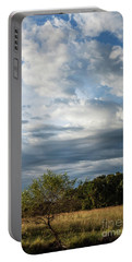 Portable Battery Charger featuring the photograph A Day In The Prairie by Iris Greenwell