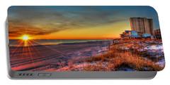 A December Beach Sunset Portable Battery Charger
