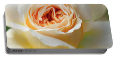 A Delicate Rose In Peach Portable Battery Charger