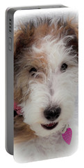 Portable Battery Charger featuring the photograph A Dog Named Butterfly by Karen Wiles