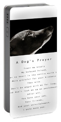 A Dog's Prayer - White Portable Battery Charger by Angela Rath