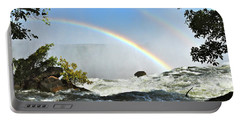 A Double Rainbow Over Victoria Falls Portable Battery Charger