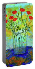 A Dozen Of Red Roses For You Portable Battery Charger