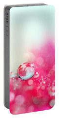 A Drop With Raspberrys And Cream Portable Battery Charger