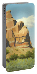 A Face In New Mexico Portable Battery Charger