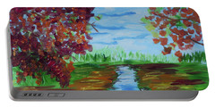 A Fall Day Portable Battery Charger by Donna Brown
