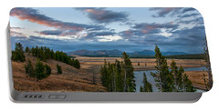 A Fall Evening In Hayden Valley Portable Battery Charger by Steve Stuller
