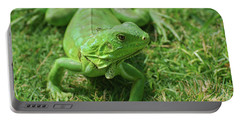 A Fantastic Look At A Green Iguana Portable Battery Charger by DejaVu Designs